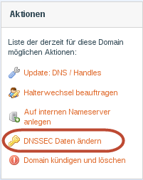 DNSSEC Daten ändern